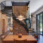 Brick Walls Spiral Staircase Steal Show Foster