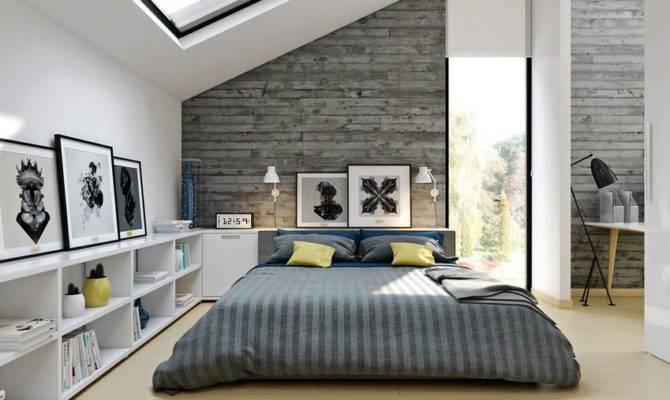 Bright Modern Loft Bedroom Design Decor Ideas