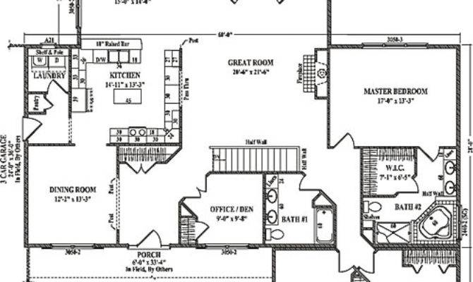 Brighton Wardcraft Homes Ranch Floorplan
