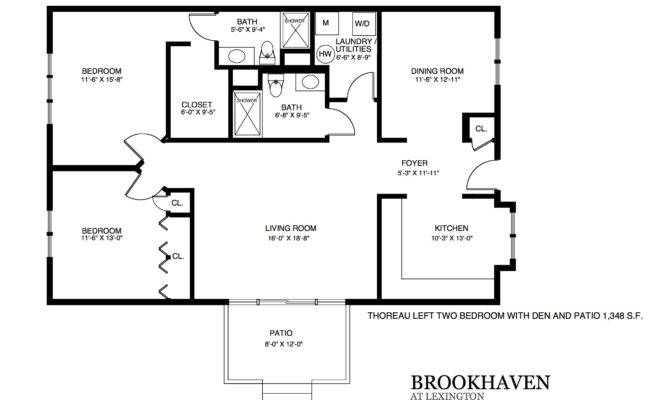Brookhaven Patio Home Floor Plans