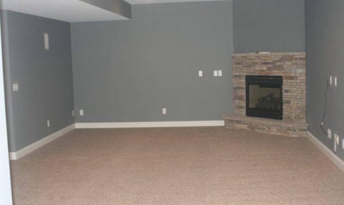 Brown Carpet Cheap Basement Flooring Option
