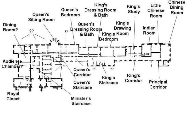 Buckingham Palace Private Apartments Below Plans