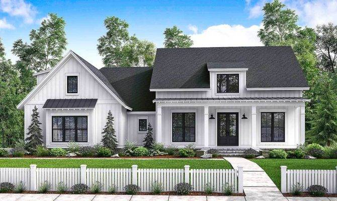 Budget Friendly Modern Farmhouse Plan Bonus Room