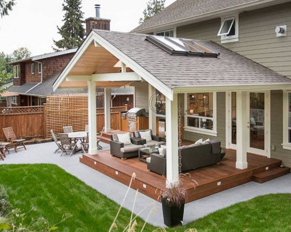 Build Covered Patio Design Idea House