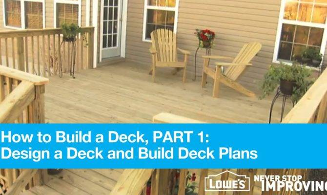Build Deck Part Design Plans Youtube