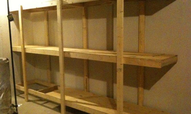 Build Easy Standing Shelving Unit Basement Garage