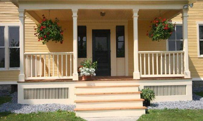 Build Modern Front Porch Designs Elegant