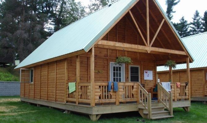 Build Small Log Cabin Kits Exterior