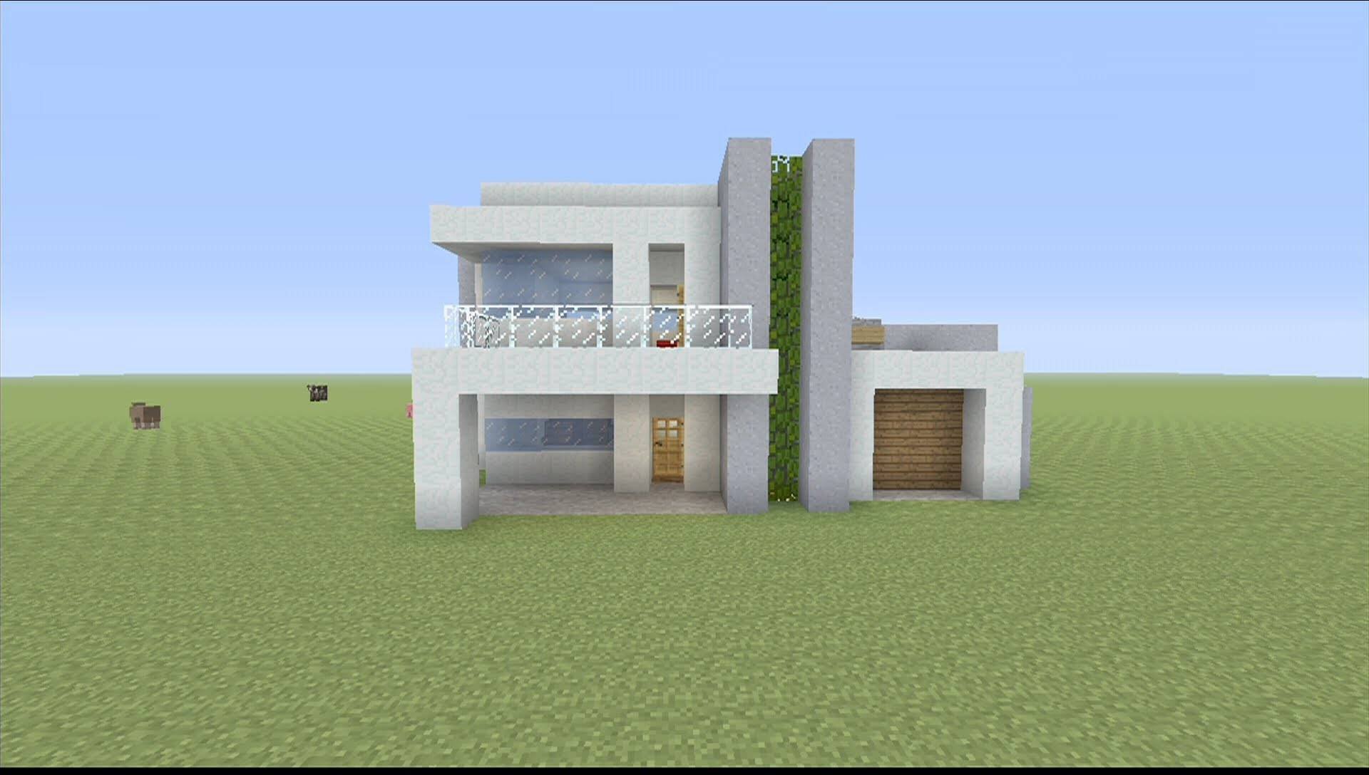 Build Small Modern House Minecraft Youtube House Plans 31264