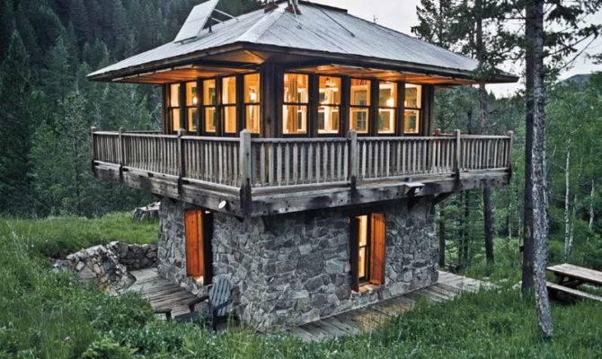 Build Tiny House Floor Stone Wall Plans