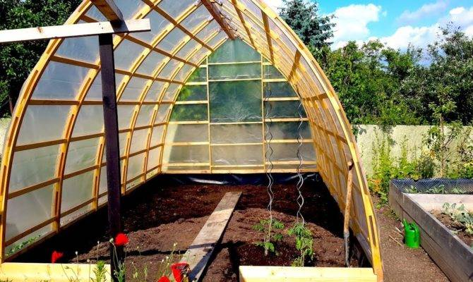 Building Gothic Arch Greenhouse Part Youtube