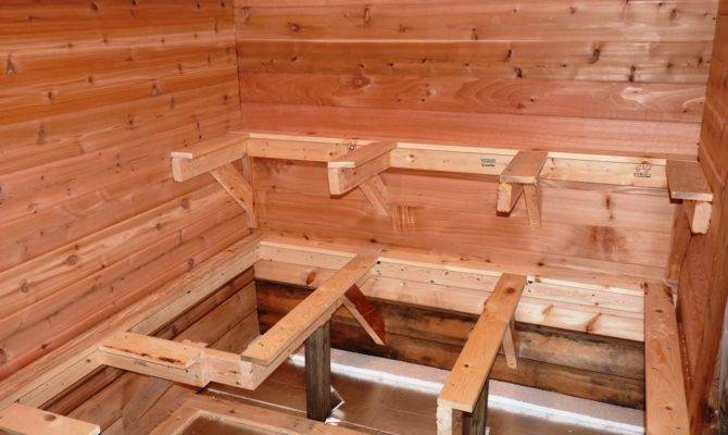 Building Outdoor Sauna Benches Bench