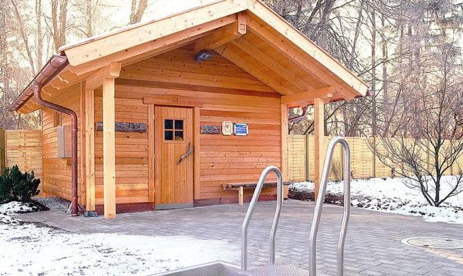 Building Outdoor Wood Burning Sauna Build House