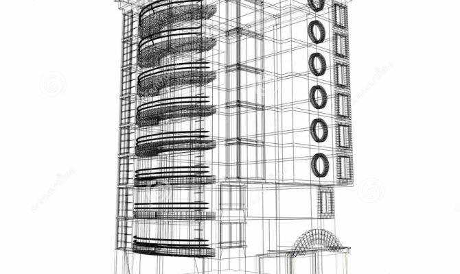 Building Plan Illustration