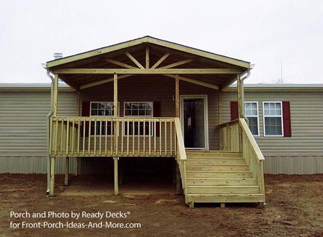 Building Small Porch Mobile Home Design Homes House Plans 63137