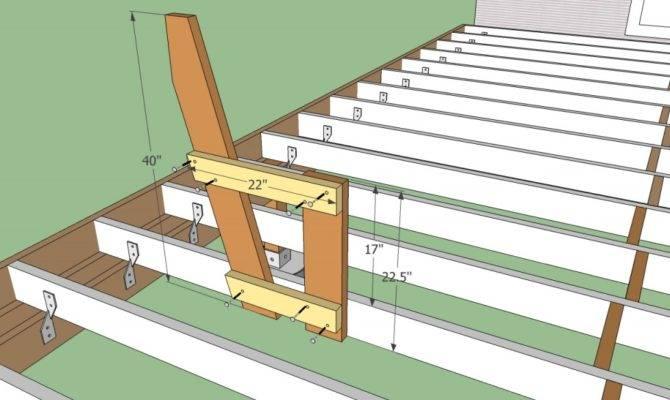 Built Deck Bench Railing Plans Joy Studio Design