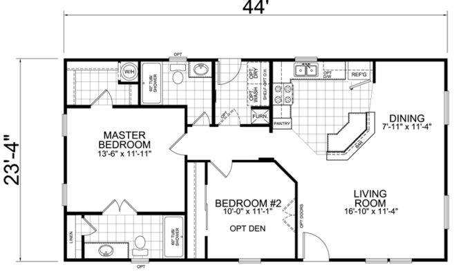 Built Manufactured Homes Bedroom Bath Square Feet