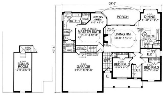 Bungalow Bedrooms Baths House