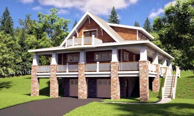 Bungalow Craftsman Hillside Home Plan Plans Blog