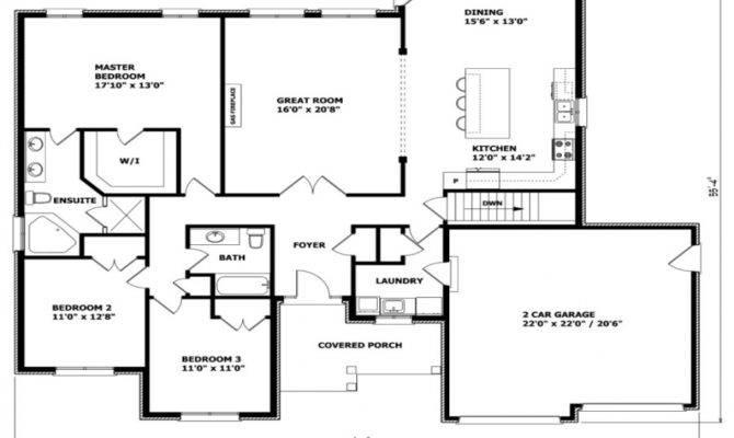 Bungalow Floor Plans Canada Craftsman House