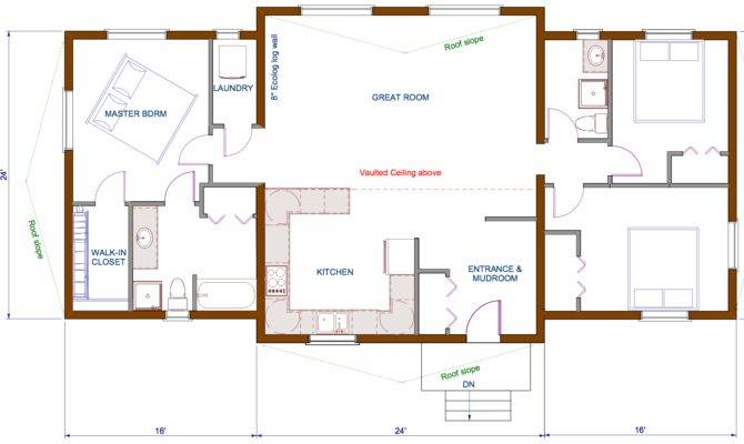 Bungalow Floor Plans Ecolog Homes Design Single Level