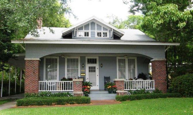Bungalow House Design Front Porch Yard
