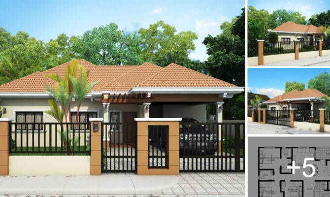 17 Bungalow House Designs With Terrace That Look So Elegant House Plans