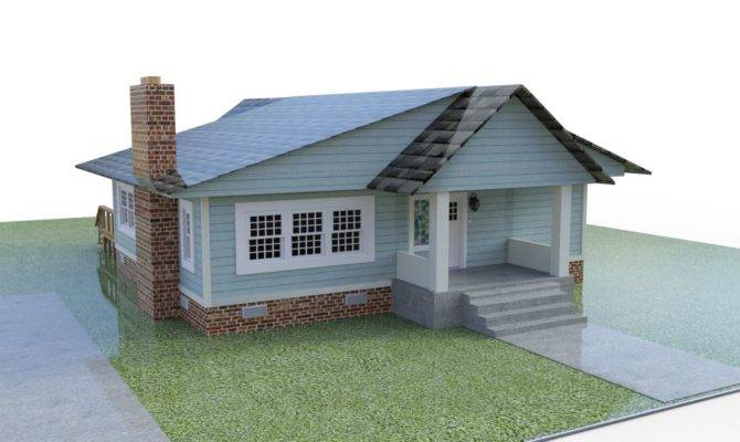 Bungalow House Model Poser World Professional