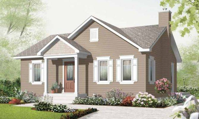 Bungalow House Plan Two Bedroom Square Feet