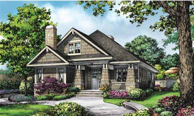 Bungalow House Plans Rear Garage Cottage