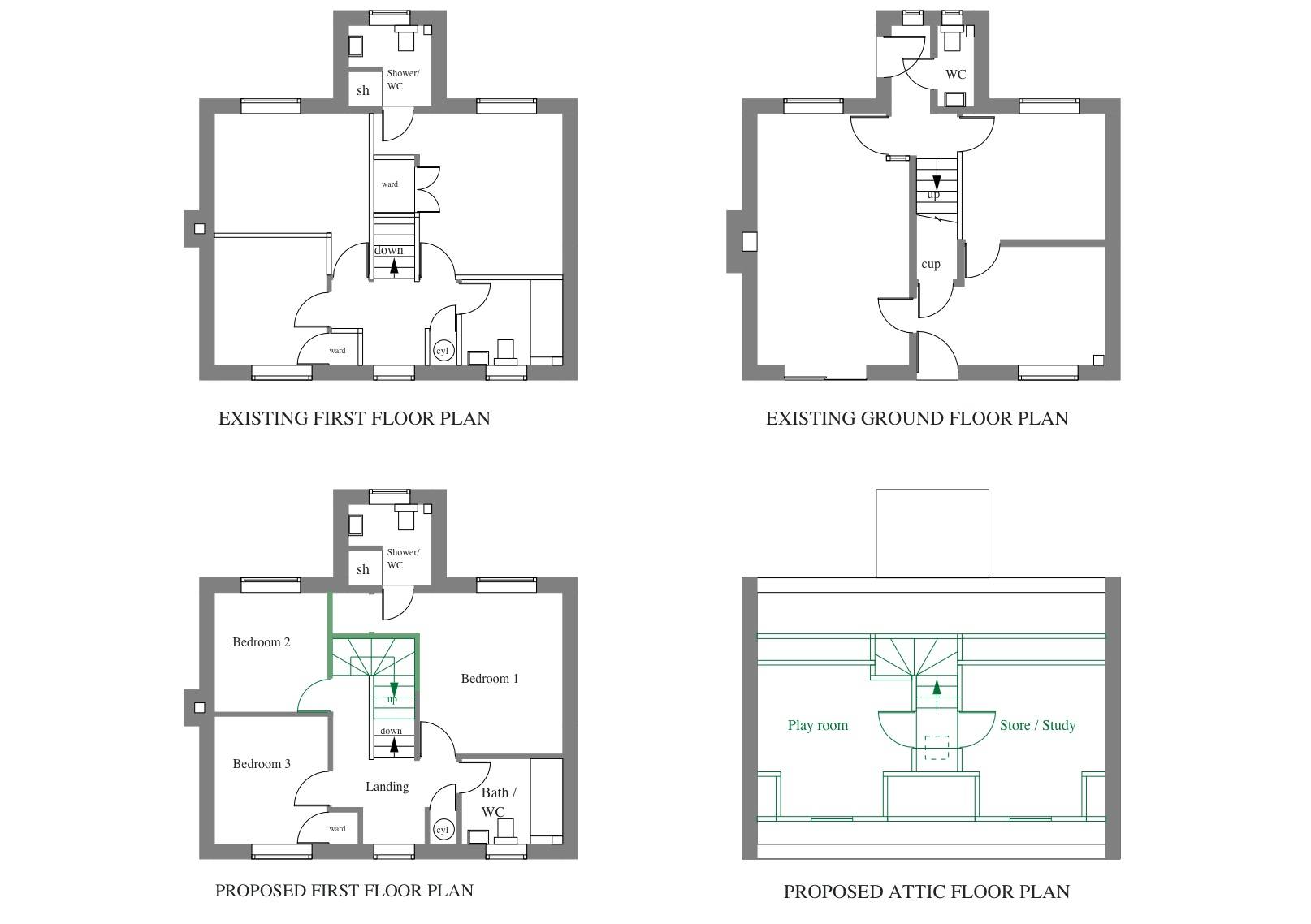 Bungalow Loft Conversion Floor Plans Thefloors House Plans 92820