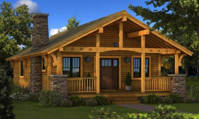 Bungalow Log Home Plan Southland Homes Great