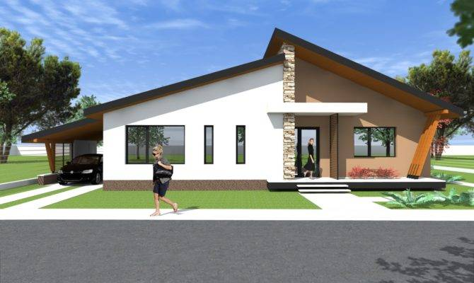 Bungalow Modern House Plans Decorating Plan