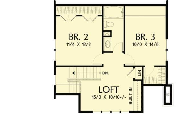 Bungalow Open Floor Plan Loft