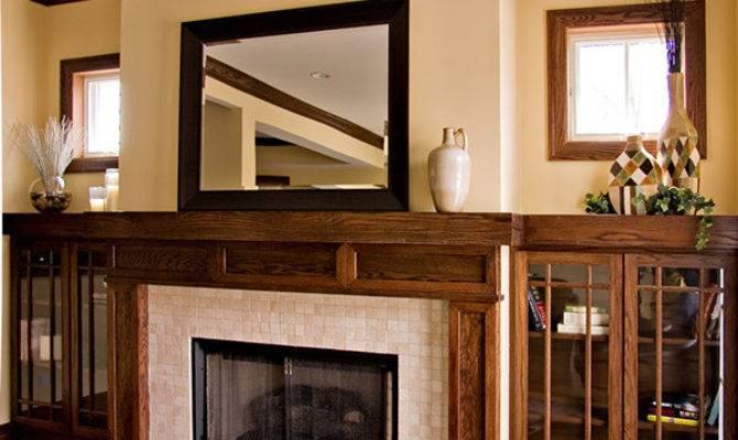 Bungalow Prairie Style Custom Fireplace Craftsman