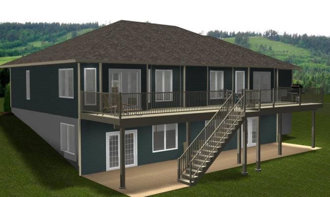 Bungalow Walkout Basement Architecture Plans