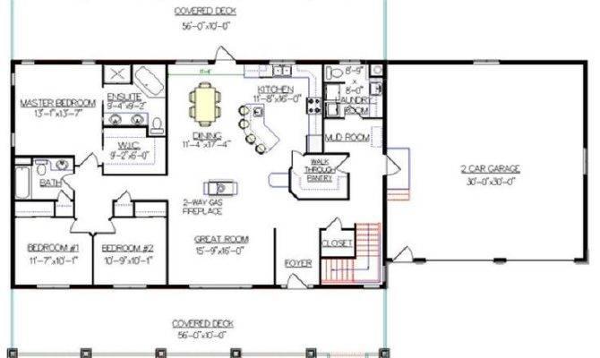 Bungalow Walkout Basement Plan Really Like Garage