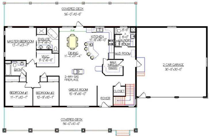 Bungalow Walkout Basement Plan Really Like Garage House Plans 69191