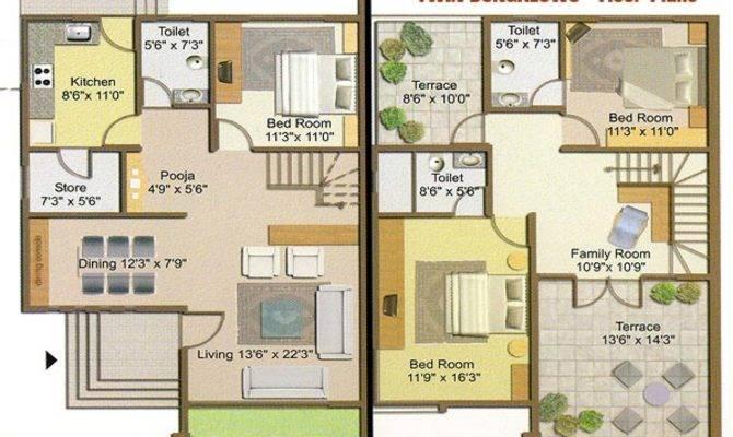 Bungalows Plans Designs Twin Bungalow Floor Plan