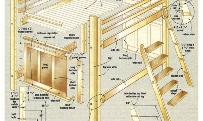 Bunk Bed Plans Pdf Diy Blueprints