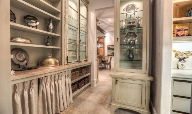 Butler Pantry Provides Ample Storage Antique Windows Were