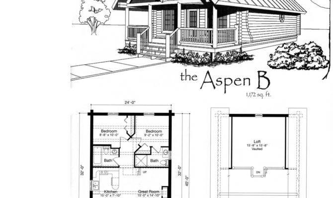 Cabin Blueprints Floor Plans Interior