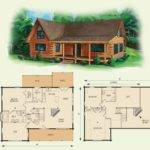 Cabin Floor Loft House Plans Dogwood Log Home