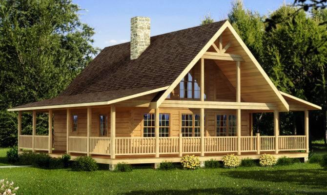 Cabin House Plans Photos Woodplans