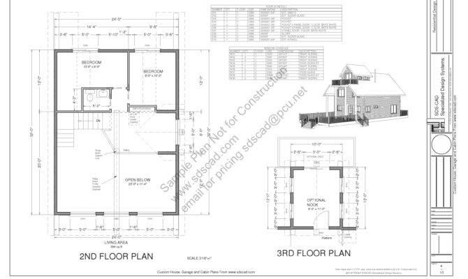 Cabin Plan Sdsh Blueprints