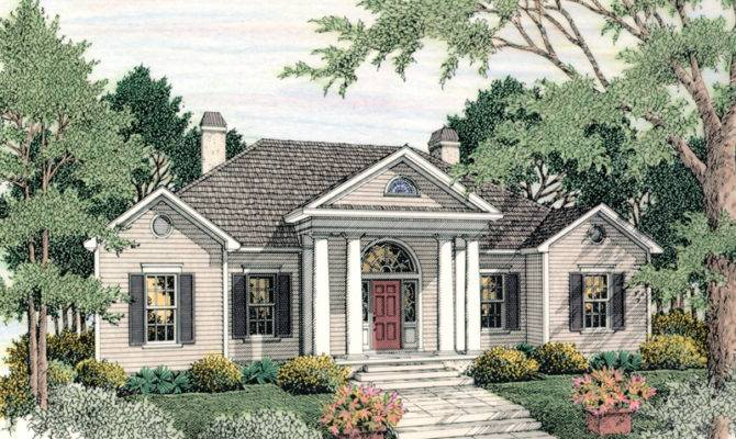 Canalou Colonial Ranch Home Plan House Plans