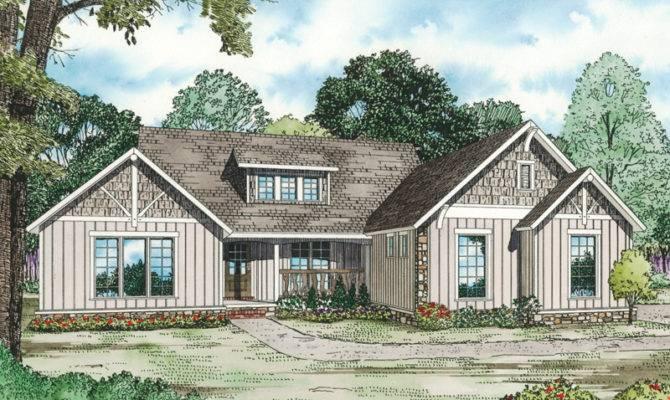 Canyon Creek Rustic Ranch Home Plan House