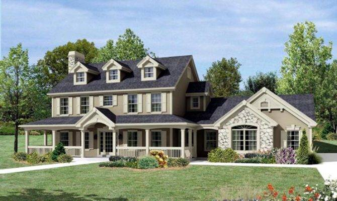 Cape Cod Colonial Country Farmhouse House Plan