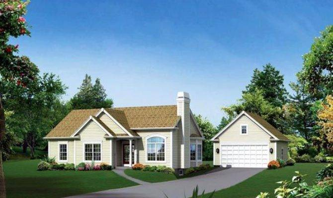 Cape Cod Country Ranch Traditional House Plan