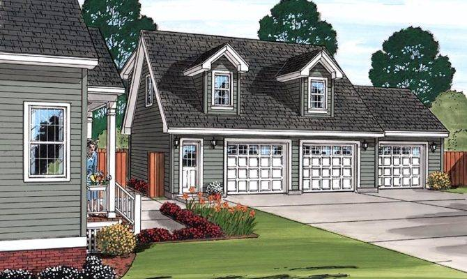 Cape Cod House Attached Garage